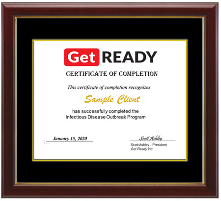 get ready inc IDO certificate of completion