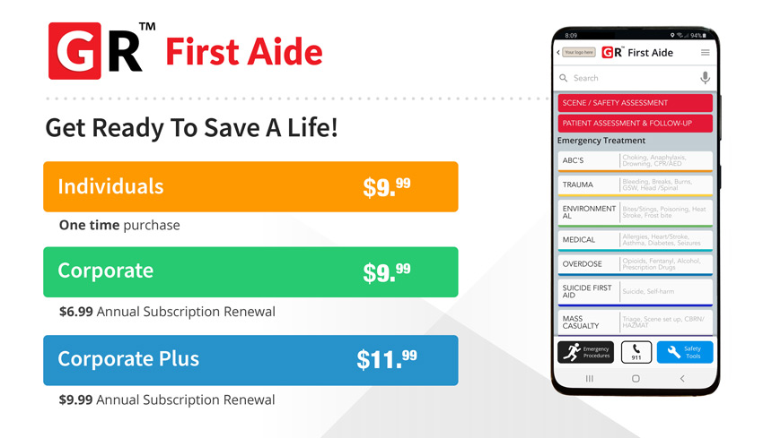 Get Ready First Aide Platform Subscriptions